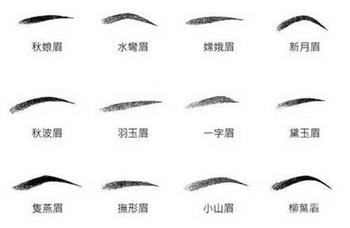 不同眉毛对性格运势的影响