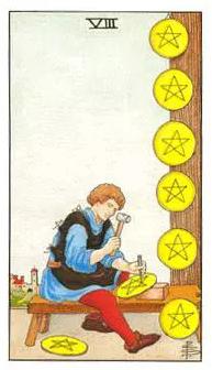 塔罗牌解析:星币八