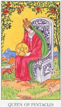 塔罗牌解析:星币皇后