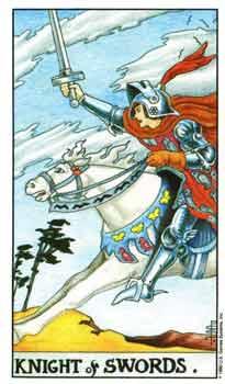 塔罗牌解析:宝剑骑士